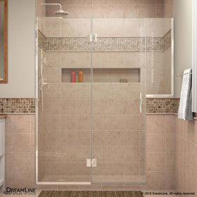 DreamLine D3232434L Unidoor-X 71 - 71 1/2 in. W x 72 in. H Hinged Shower Door Left-wall Bracket