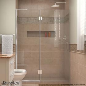 DreamLine D32372L Unidoor-X 47 in. W x 72 in. H Hinged Shower Door Left-wall Bracket