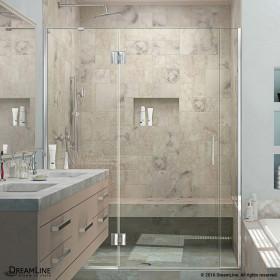 DreamLine D32506572L Unidoor-X 55 1/2 - 56 in. W x 72 in. H Hinged Shower Door Left-wall Bracket