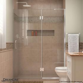 DreamLine D33072R Unidoor-X 54 in. W x 72 in. H Hinged Shower Door With Right-wall Bracket