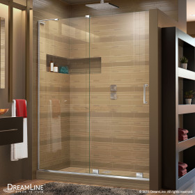 DreamLine SHDR-1948723L Mirage-X 44 - 48 in. W x 72 in. H Sliding Shower Door With Left-wall Bracket