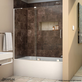 DreamLine SHDR-1960580L Mirage-X 56 - 60 in. W x 58 in. H Sliding Tub Door With Left-wall Bracket
