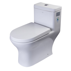 EAGO TB353 One Piece Dual High Efficiency Low Flush Eco-Friendly Toilet