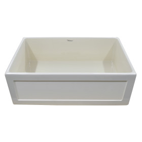 "Whitehaus WHPLCON3319 Fireclay 33"" Large Reversible Front Apron Sink"