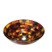 Polaris Sinks P126 Stained Glass Vessel Sink in Painted Clasic Bowl-Shaped
