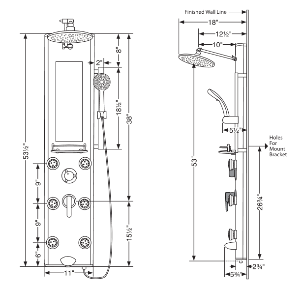 Pulse 1013-gl Kihei Ii Shower Column