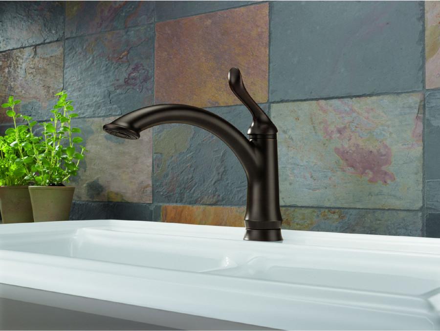 Delta 1353 Dst Linden Single Handle Kitchen Faucet With