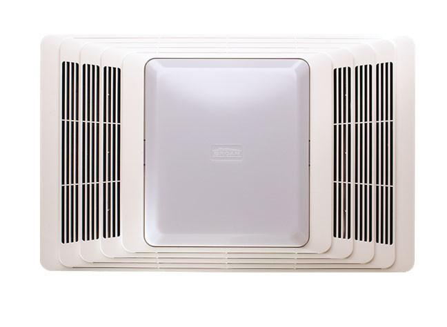 Broan 655wh White 70 Cfm Bath Fan Light Heater