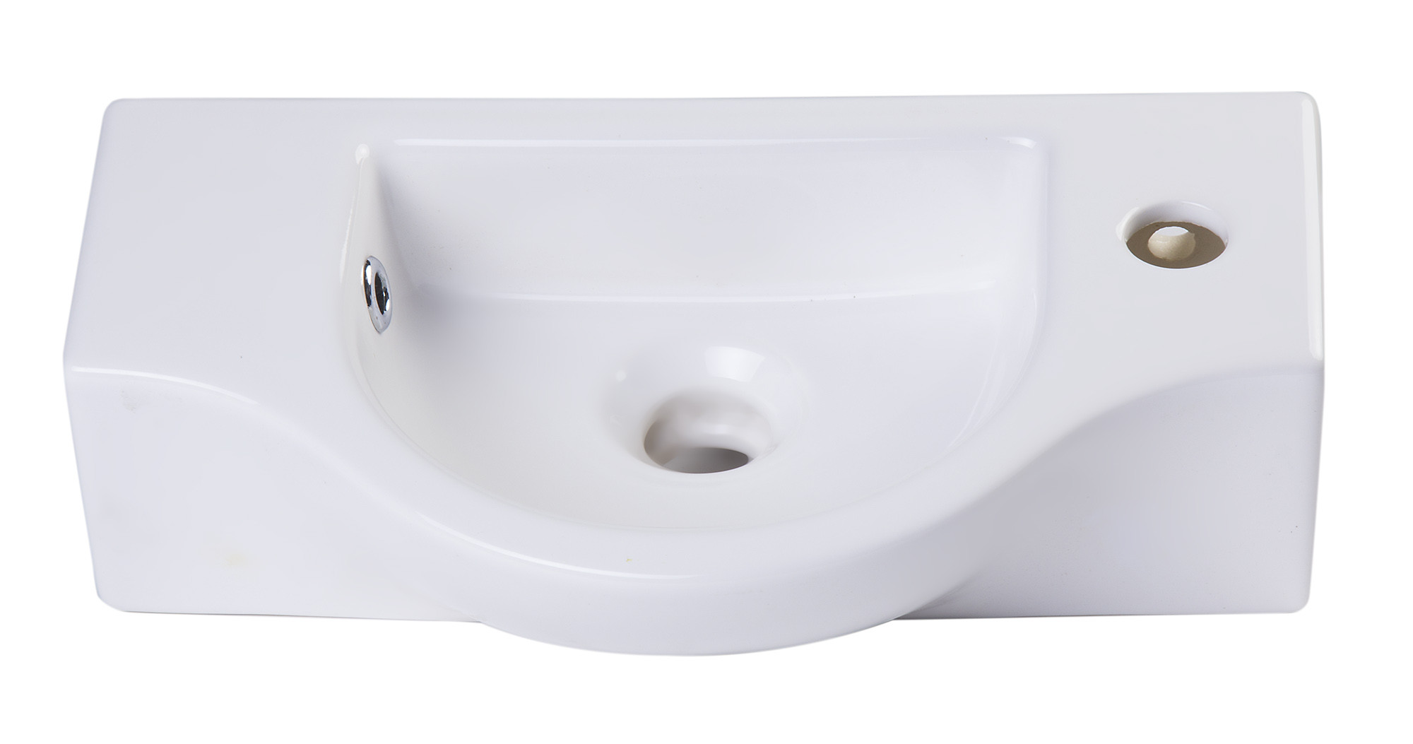 ALFI brand AB105 Small Wall Mounted White Ceramic Bathroom ...