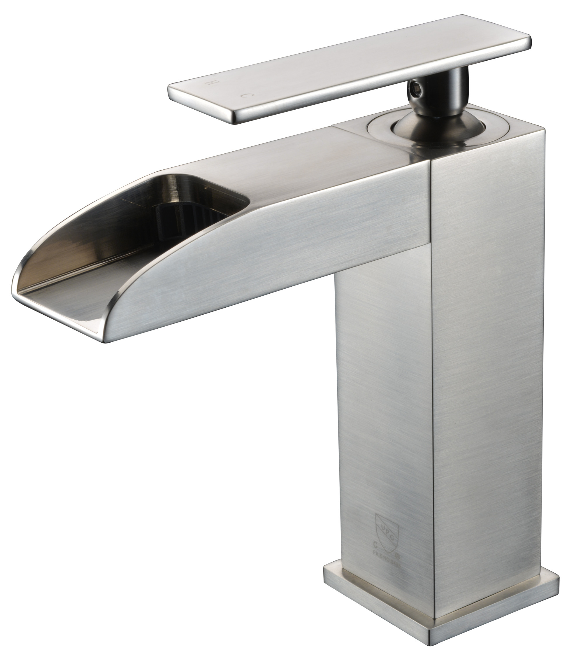 ALFI brand AB1598 Single Hole Waterfall Bathroom Faucet