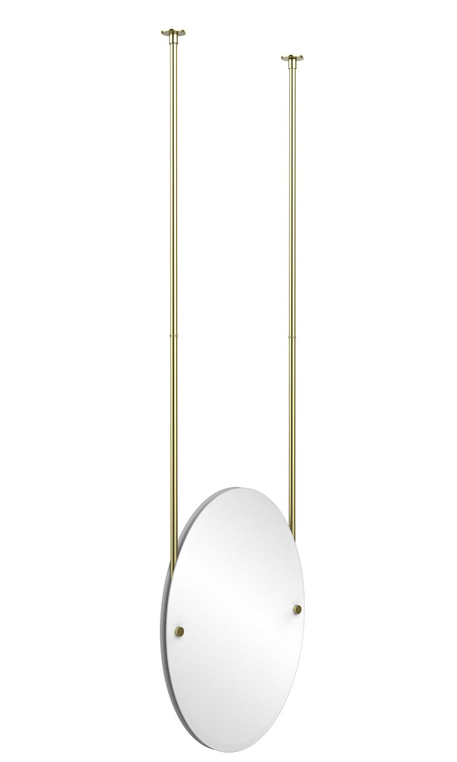 Allied Brass Ch 91 Oval Ceiling Hung Mirror With Solid