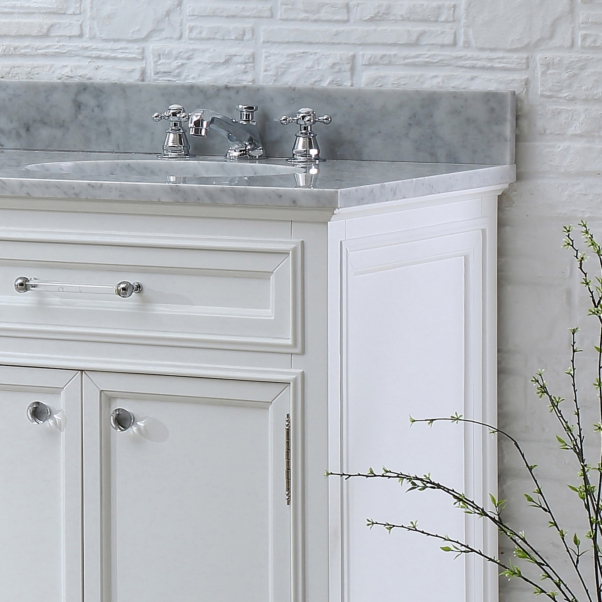 """water creation derby 60w 60"""" solid white double sink"""