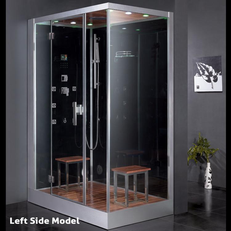 Ariel DZ961F8-BLK Steam Shower W/ built in steam generator ...