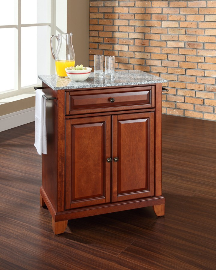 astounding portable kitchen islands granite tops | Crosley Furniture KF30023C Solid Granite Top Portable ...