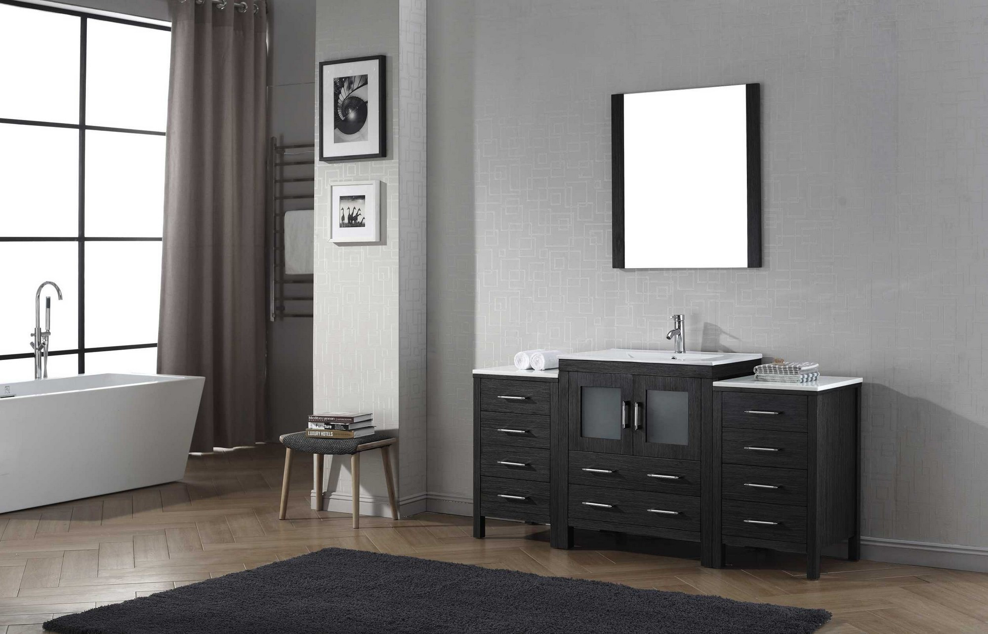 Virtu KS-70066 Modern 66 Inch Dior Single Sink Bathroom ...