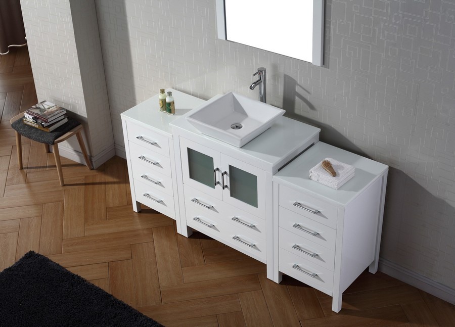 Virtu KS-70066 Modern 66 Inch Dior Single Sink Bathroom ...