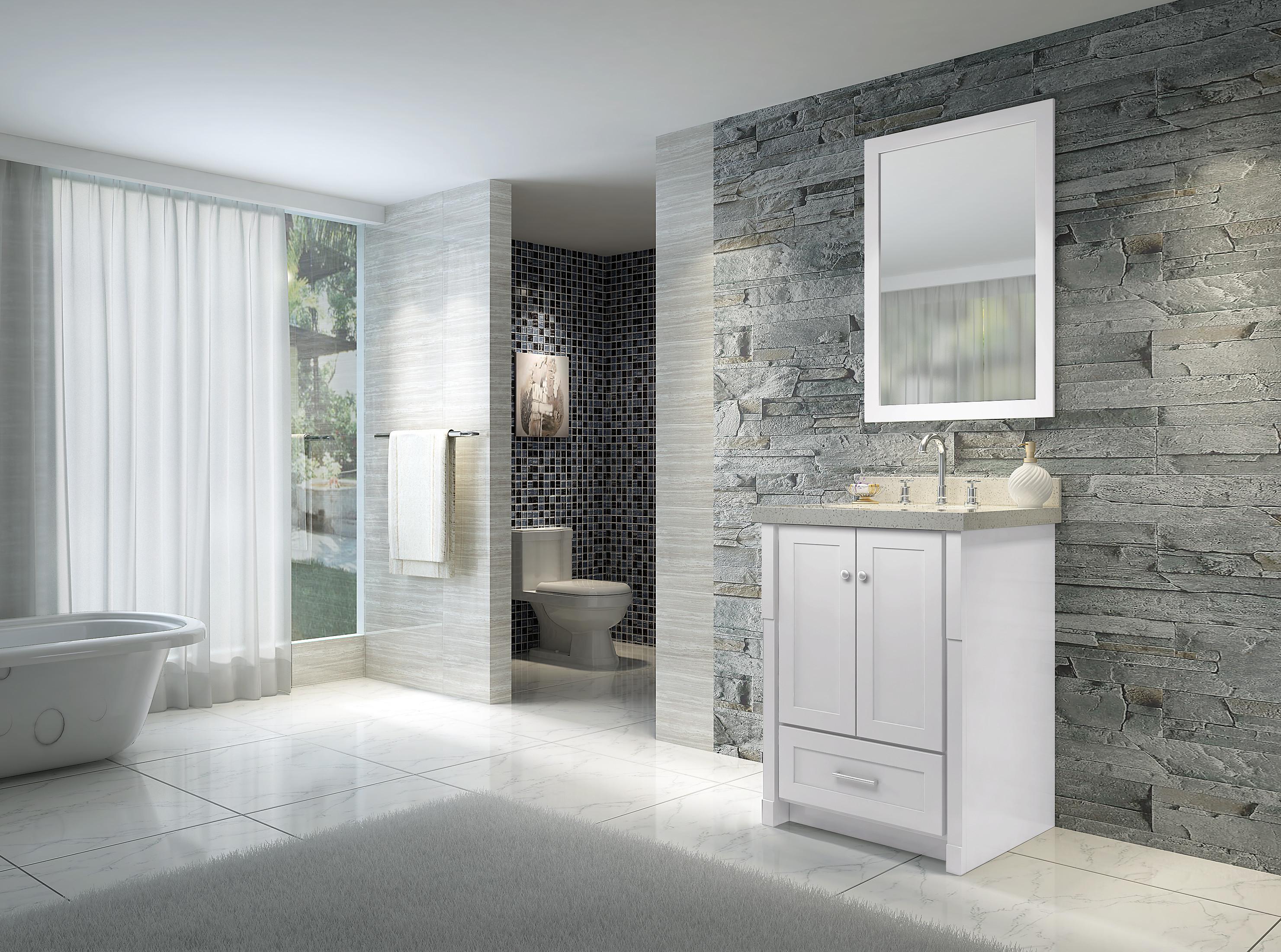 Ariel L025S Adams 25 Inch Single Sink Vanity Set with ...