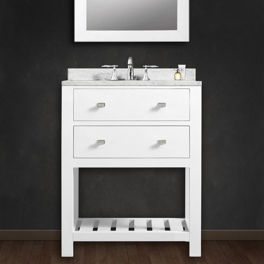 White Concrete Bathroom Sink