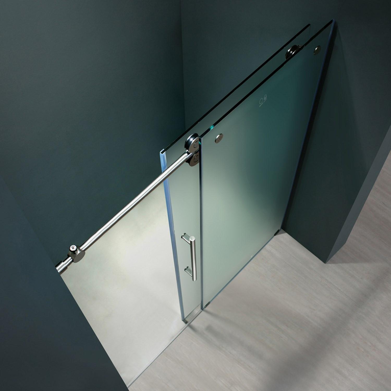 Vigo Vg6041mt6074l Elan 60 Inch Frameless Shower Door With