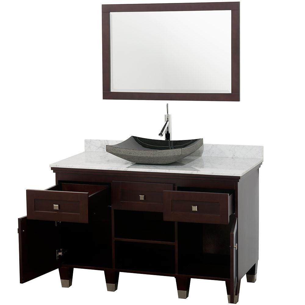 Wyndham wc cg5000 48 modern wood bathroom vanity mirror - Bathroom vanity and mirror combo ...