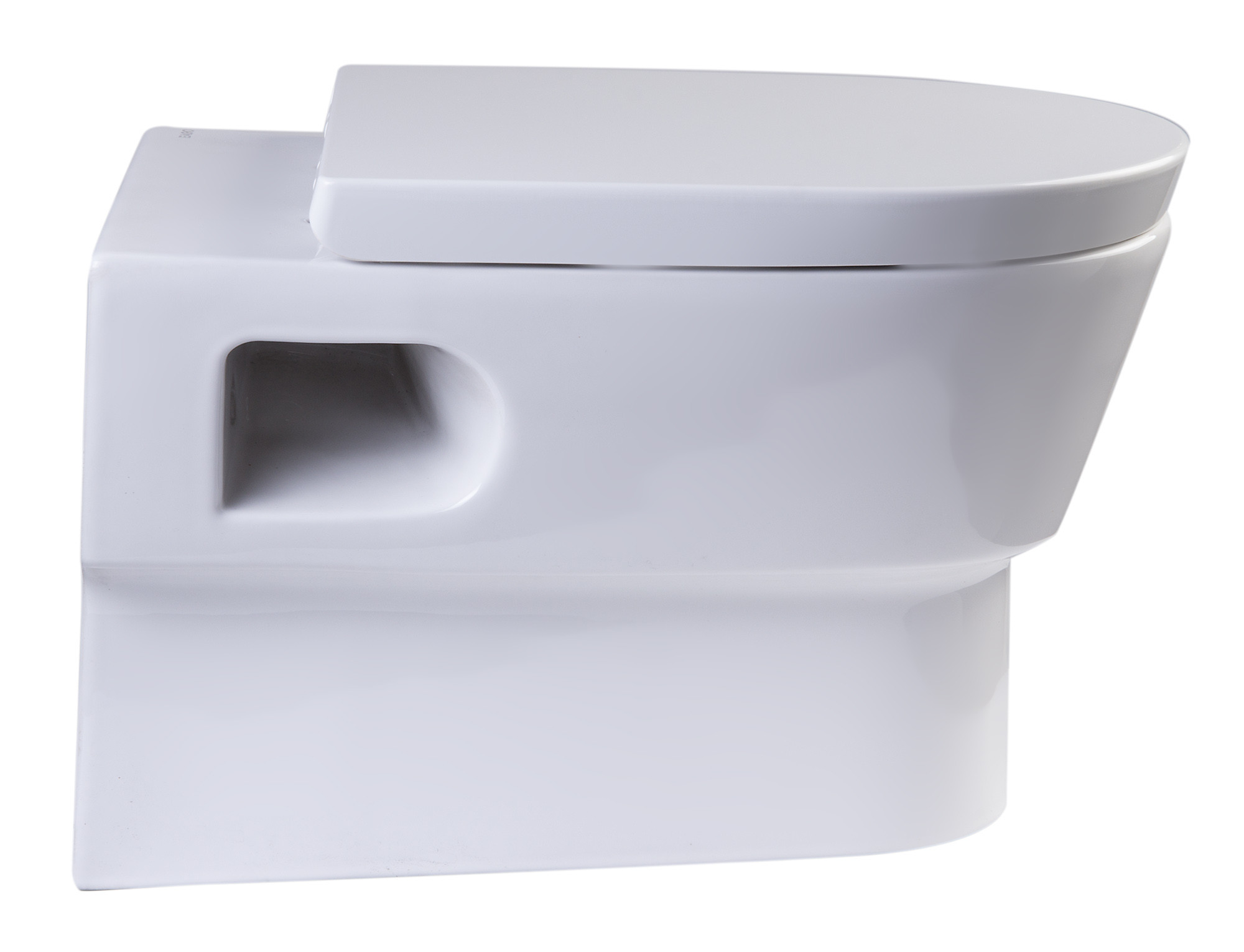 Eago Wd332 Wall Mount Dual Flush White Toilet With In Wall