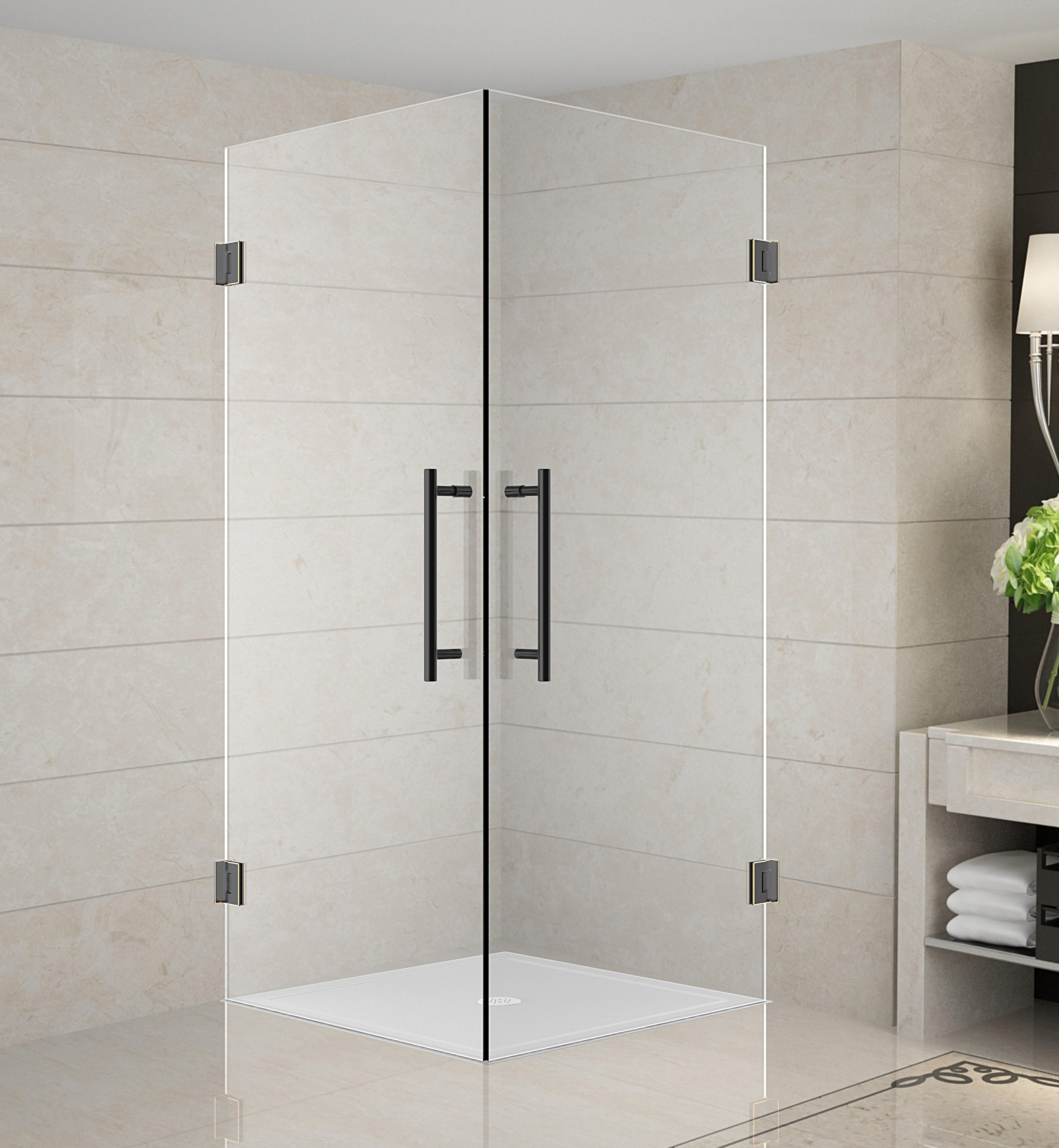 Aston Global SEN989-..-32-10 Vanora Frameless Square Shower ...