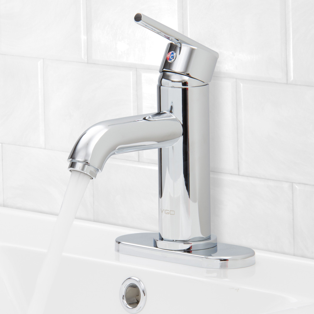 VIGO VG01038..K1 Setai Single Handle Bathroom Faucet with Deck Plate ...