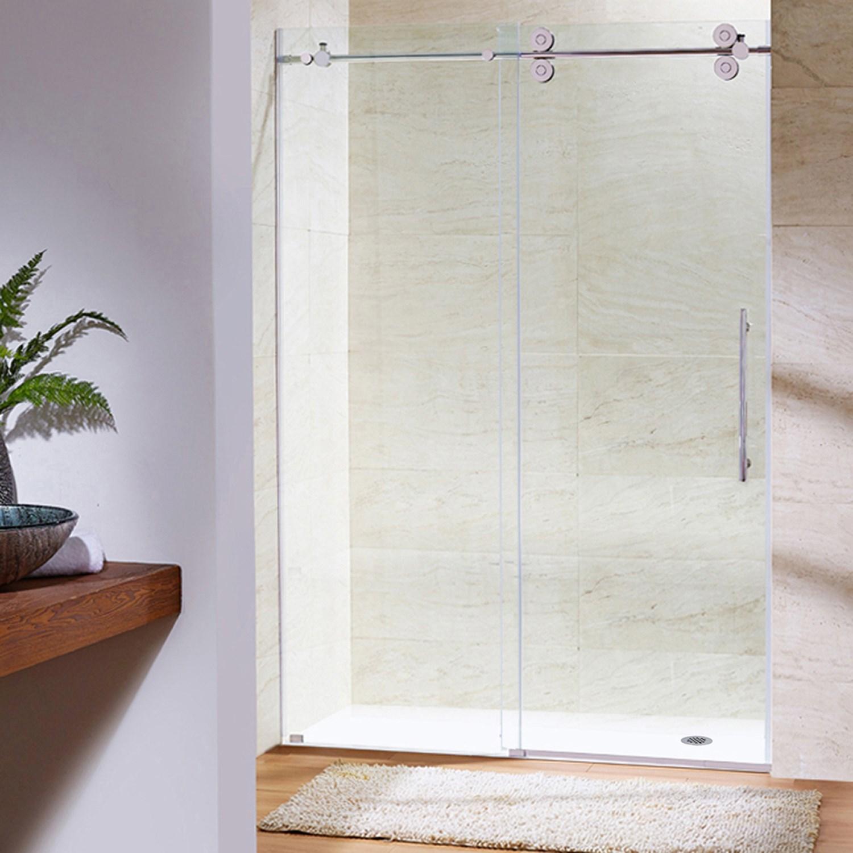 VIGO VG6041CL6066 Elan Sliding Frameless Tub Door With Clear Glass ...