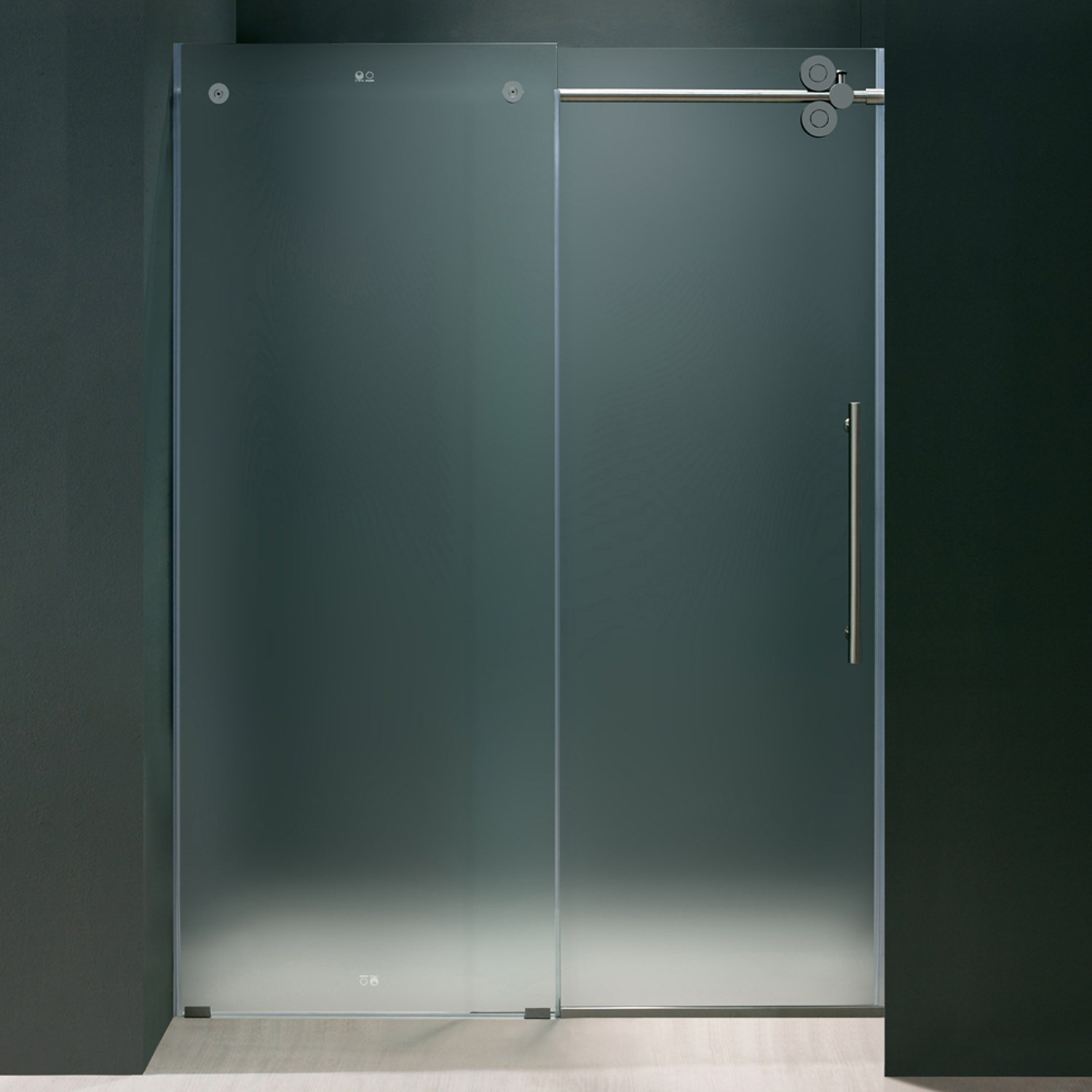 Vigo Vg6041mt6074r Elan Sliding Frameless Frosted Glass Shower