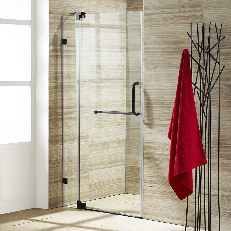 VIGO VG6042CL36 Pirouette Frameless Bathroom Shower Door With Clear ...