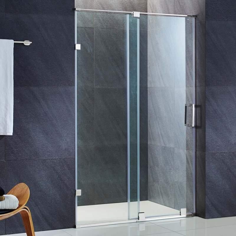 Vigo Vg60456073 Clear Tempered Glass Sliding Frameless Shower
