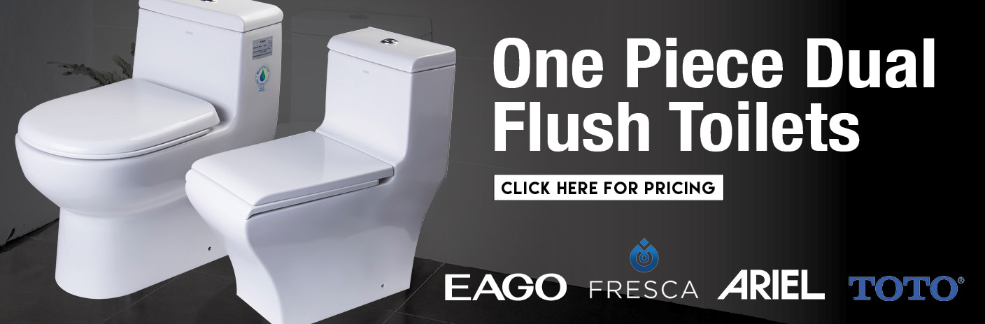 One Piece Dual Flush Toilets For Sale